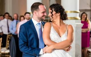 Couple at reception